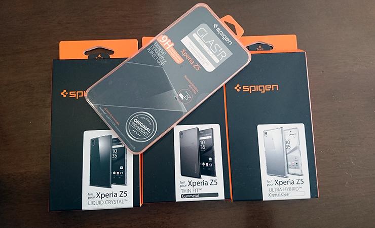 【Z5】Spigenのガラスフィルムとケース3種を一気レビューしてみる